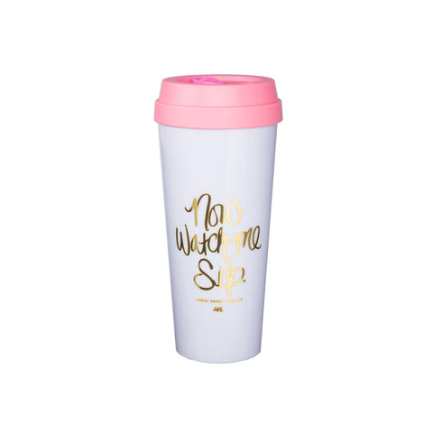 Now Watch Me Sip Travel Mug-Travel Mugs-Ashley Brooke Designs