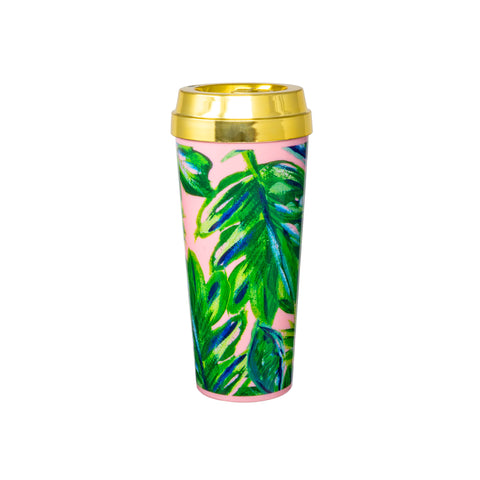 Palm Leaf-Travel Mugs-Ashley Brooke Designs