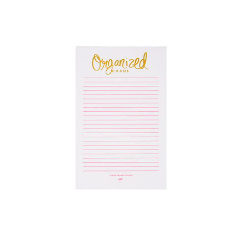 Organized Chaos Notepad-Notepads-Ashley Brooke Designs