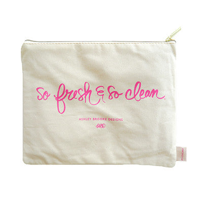 So Fresh and So Clean Cosmetic Zip Pouch-Cosmetic Zip Pouch-Ashley Brooke Designs