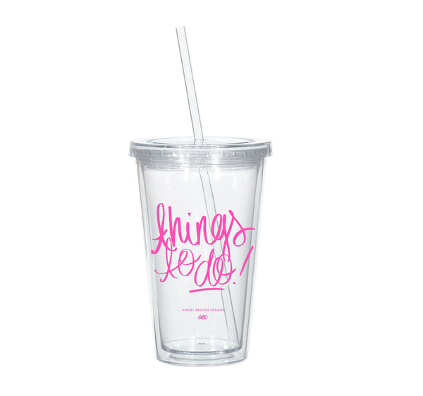 Things to Do Tumbler-Tumblers-Ashley Brooke Designs