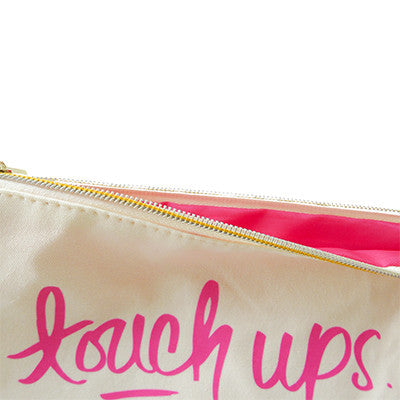 Touch Ups Cosmetic Zip Pouch
