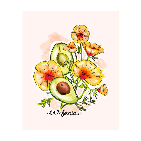 California Art Print-Apparel-Ashley Brooke Designs