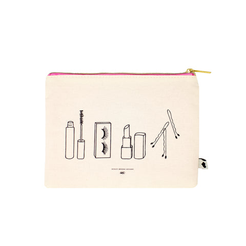 Let's Primp Zip Pouch-Cosmetic Zip Pouch-Ashley Brooke Designs