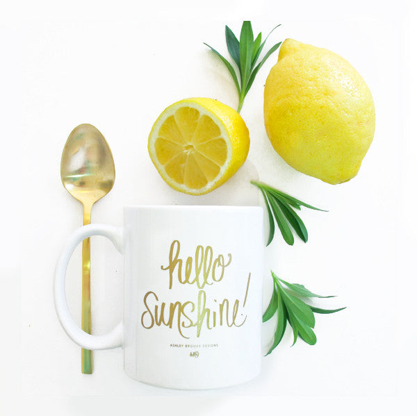 Hello Sunshine Coffee Mug-Mugs-Ashley Brooke Designs
