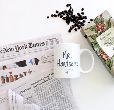 Mr. Handsome Coffee Mug-Mugs-Ashley Brooke Designs