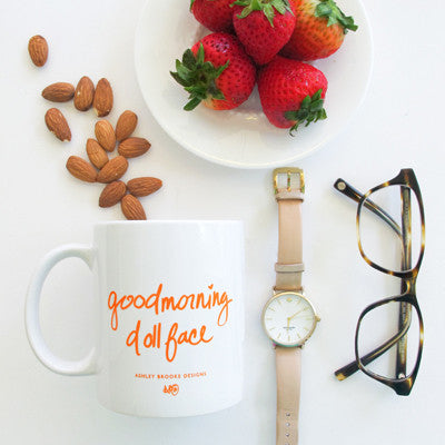 Good Morning Dollface Coffee Mug-Mugs-Ashley Brooke Designs
