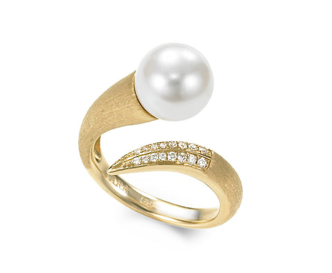 Modern 11-12mm White Freshwater Ring