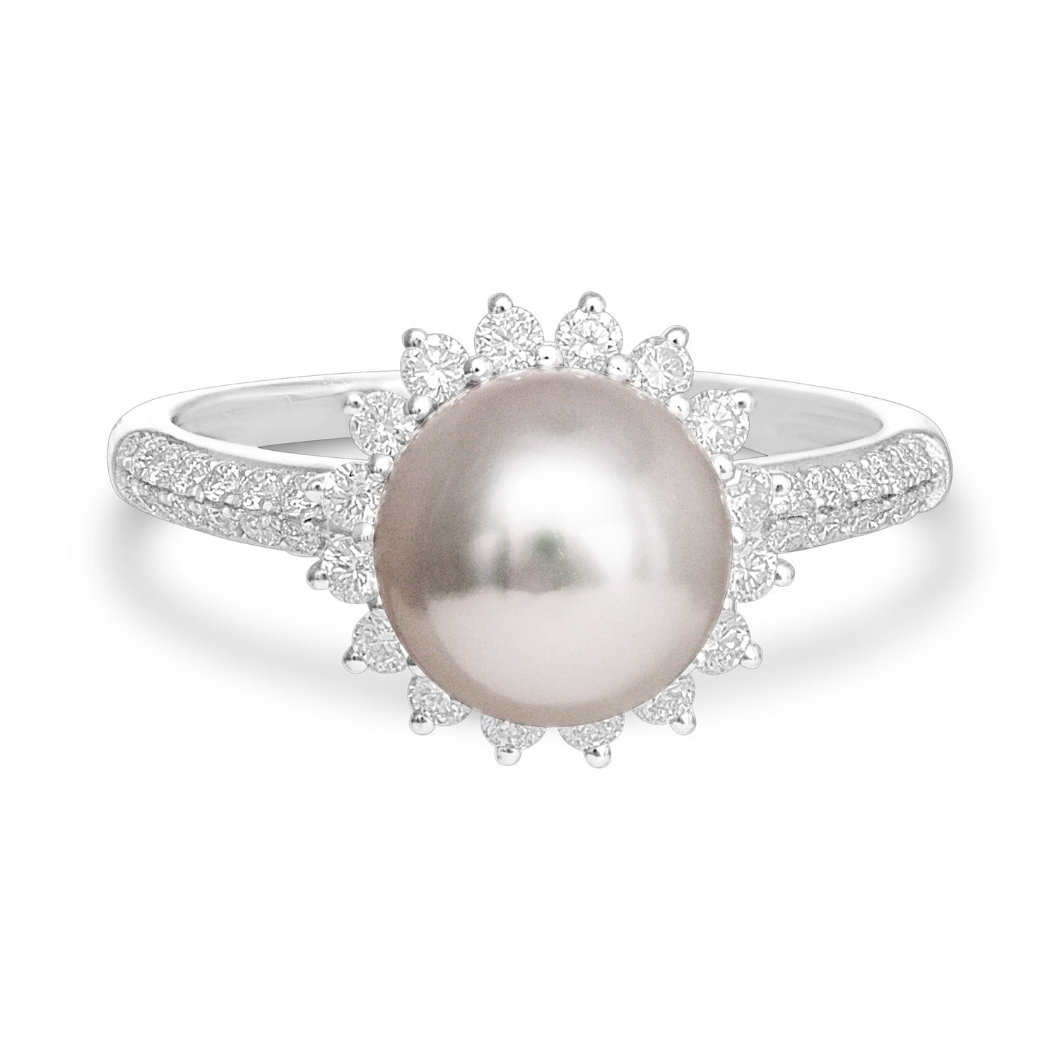 Classic Collection 8-8.5mm Akoya Cultured Pearl Diamond Ring