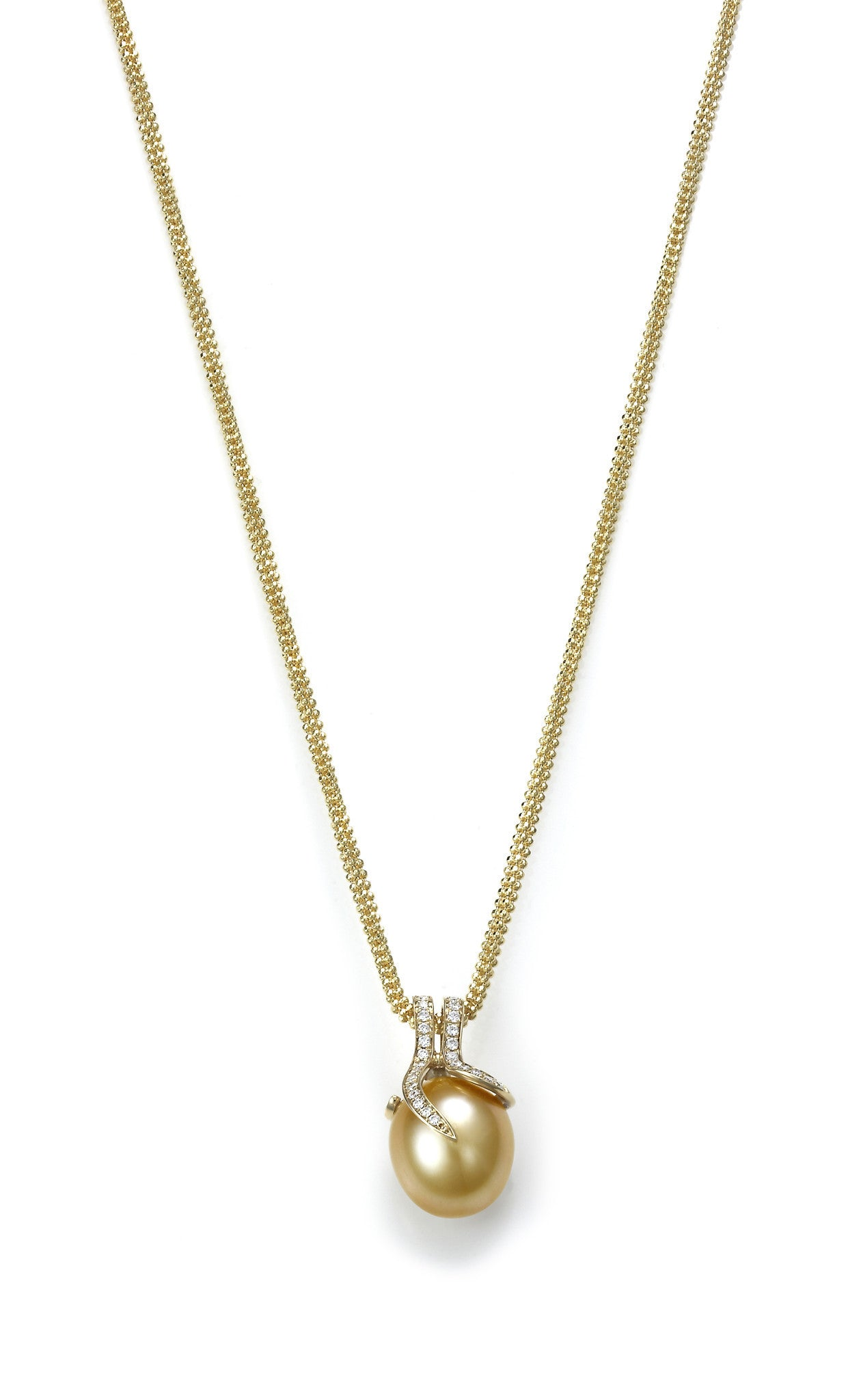 Oscar Collection 11-13mm Golden South Sea Pearl Pendant