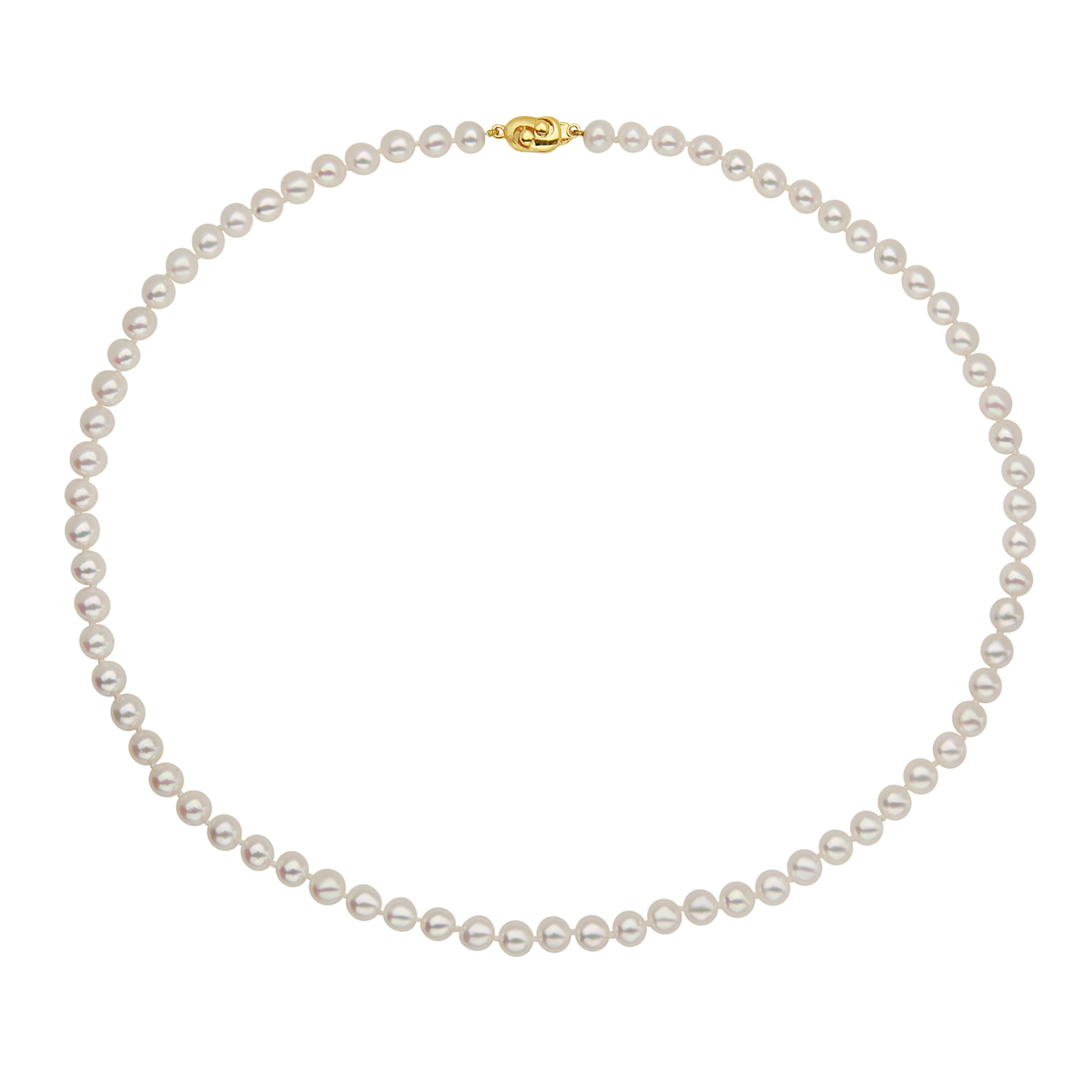14k 7-7.5mm Akoya Cultured Pearl Necklace