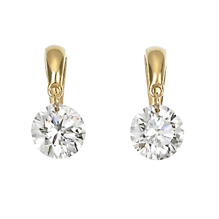 Legacy 14k Gold Diamond Heart Stud Earrings