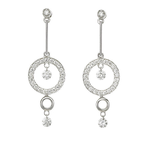 Dancing Diamond™ Collection 10-11mm White South Sea Pearl and Diamond Earrings