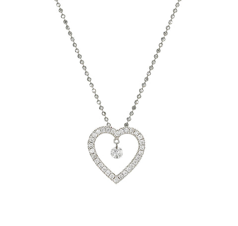 Dancing Diamond™ Collection Heart Pendant