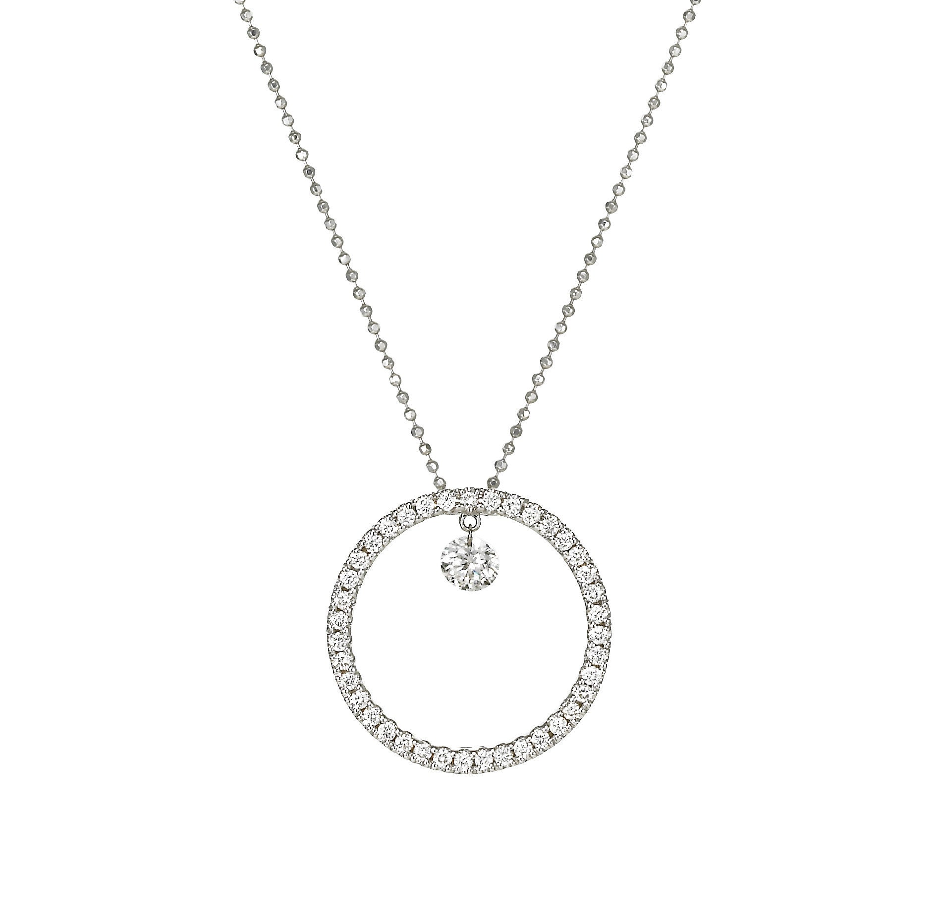 Dancing Diamond™ Collection Large Circle Pendant