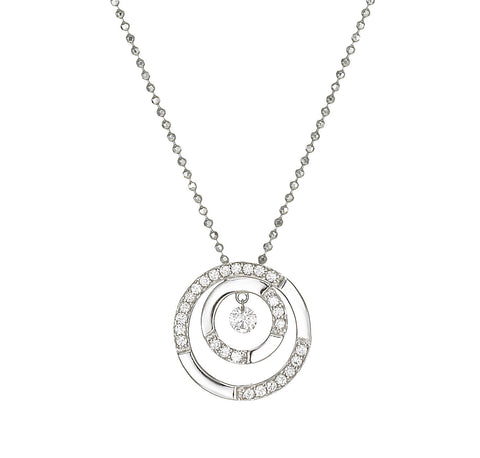 Dancing Diamond™ Collection Double Circle Pendant
