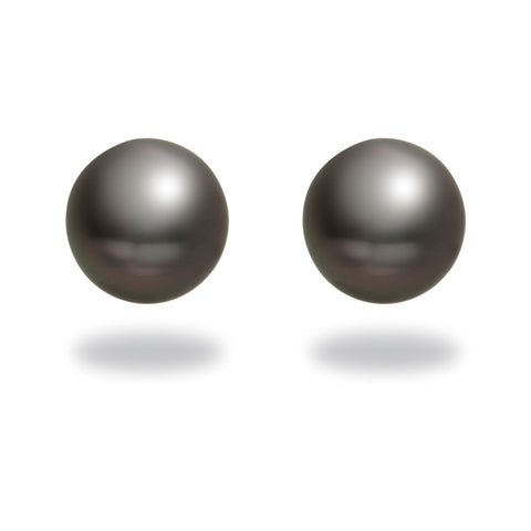8-9mm Tahitian Cultured Pearl Diamond Earrings