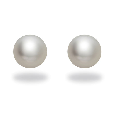 9-10mm White South Sea Pearl Stud Earring