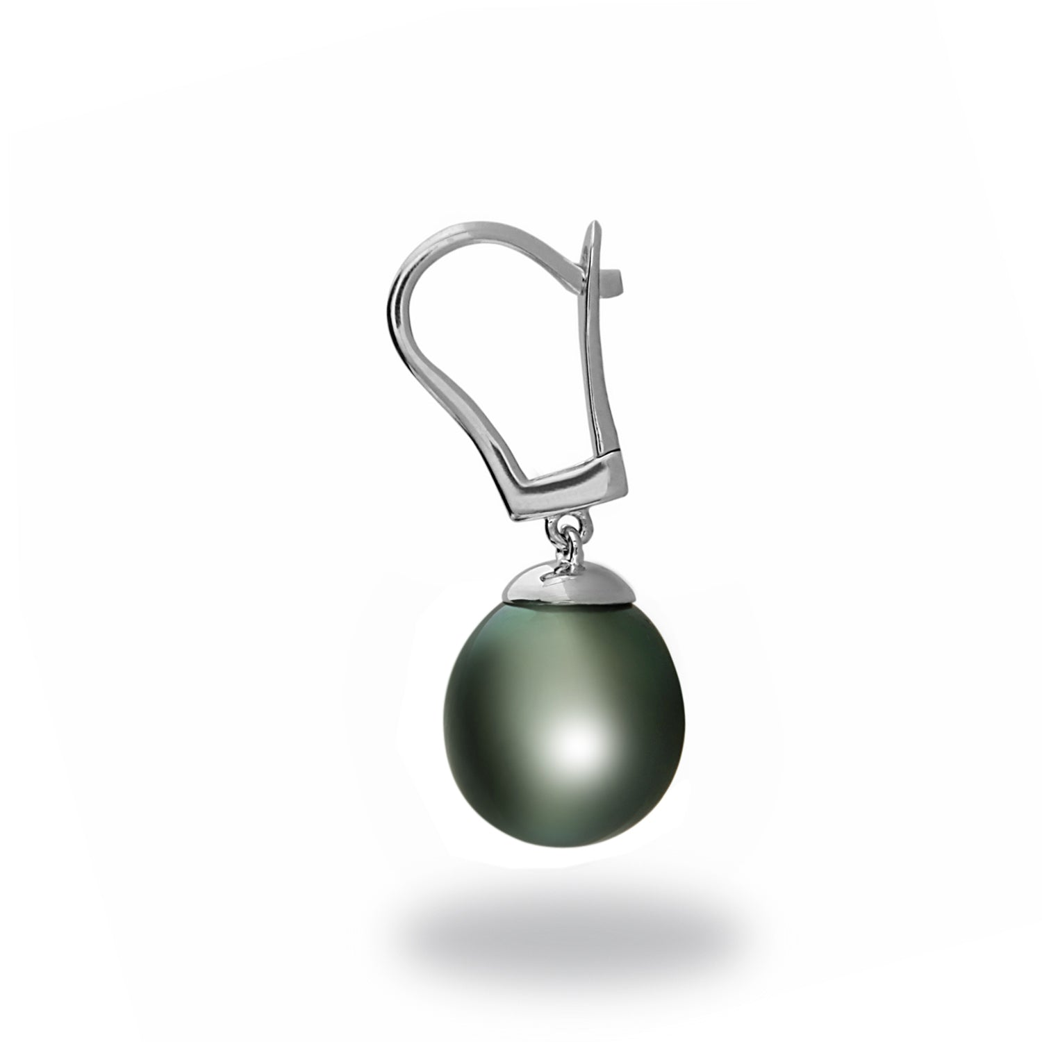 9-10mm Tahitian Cultured Pearl Lever Back Earrings