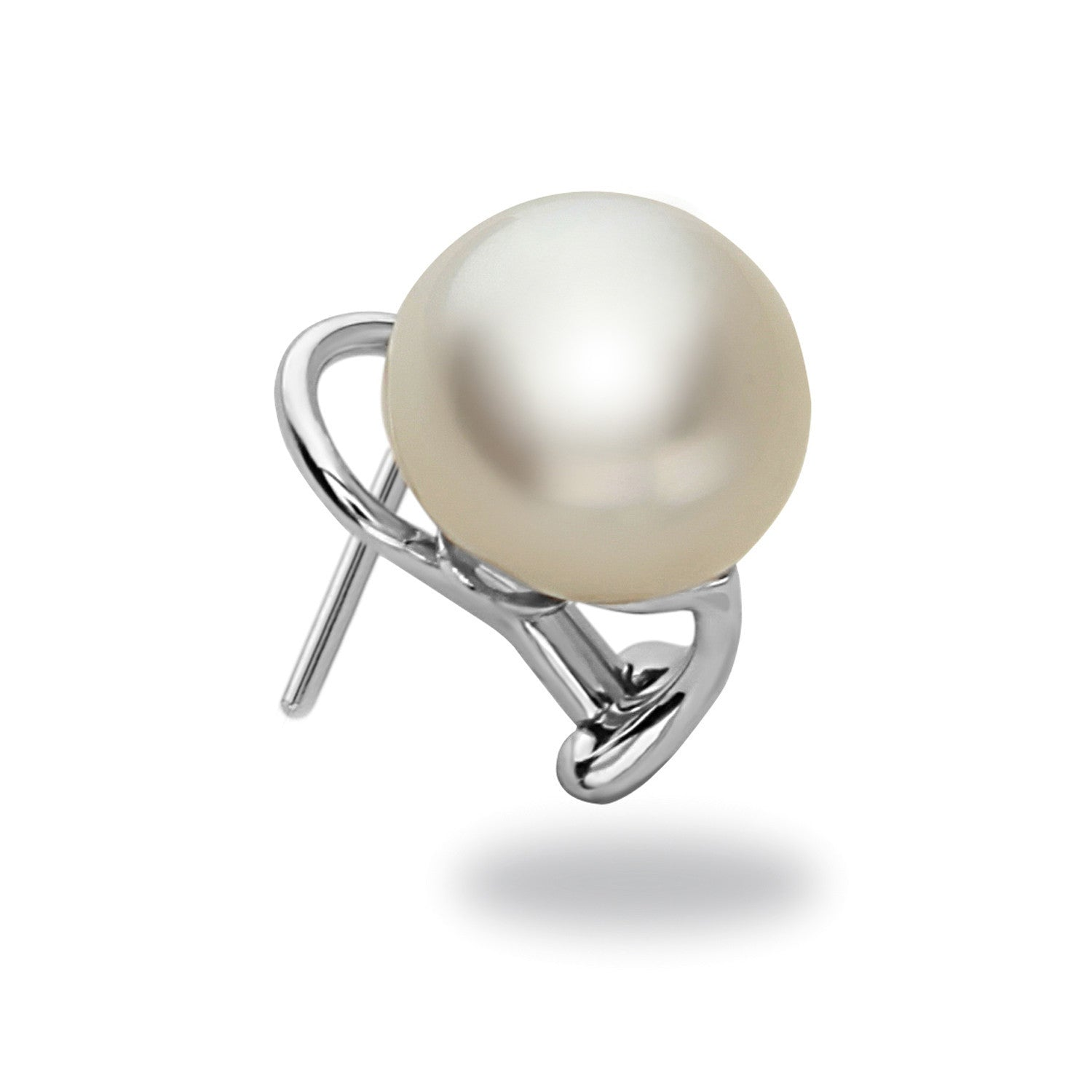 15x16mm White South Sea Pearl Stud Earring
