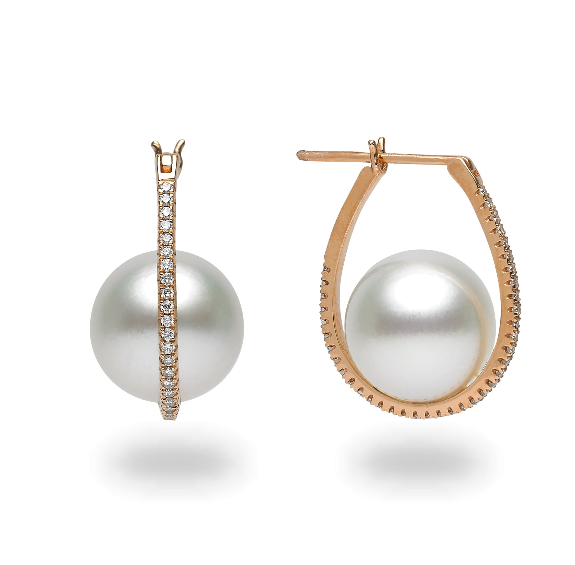 Galaxy Collection 12-13mm White South Sea Pearl Earrings