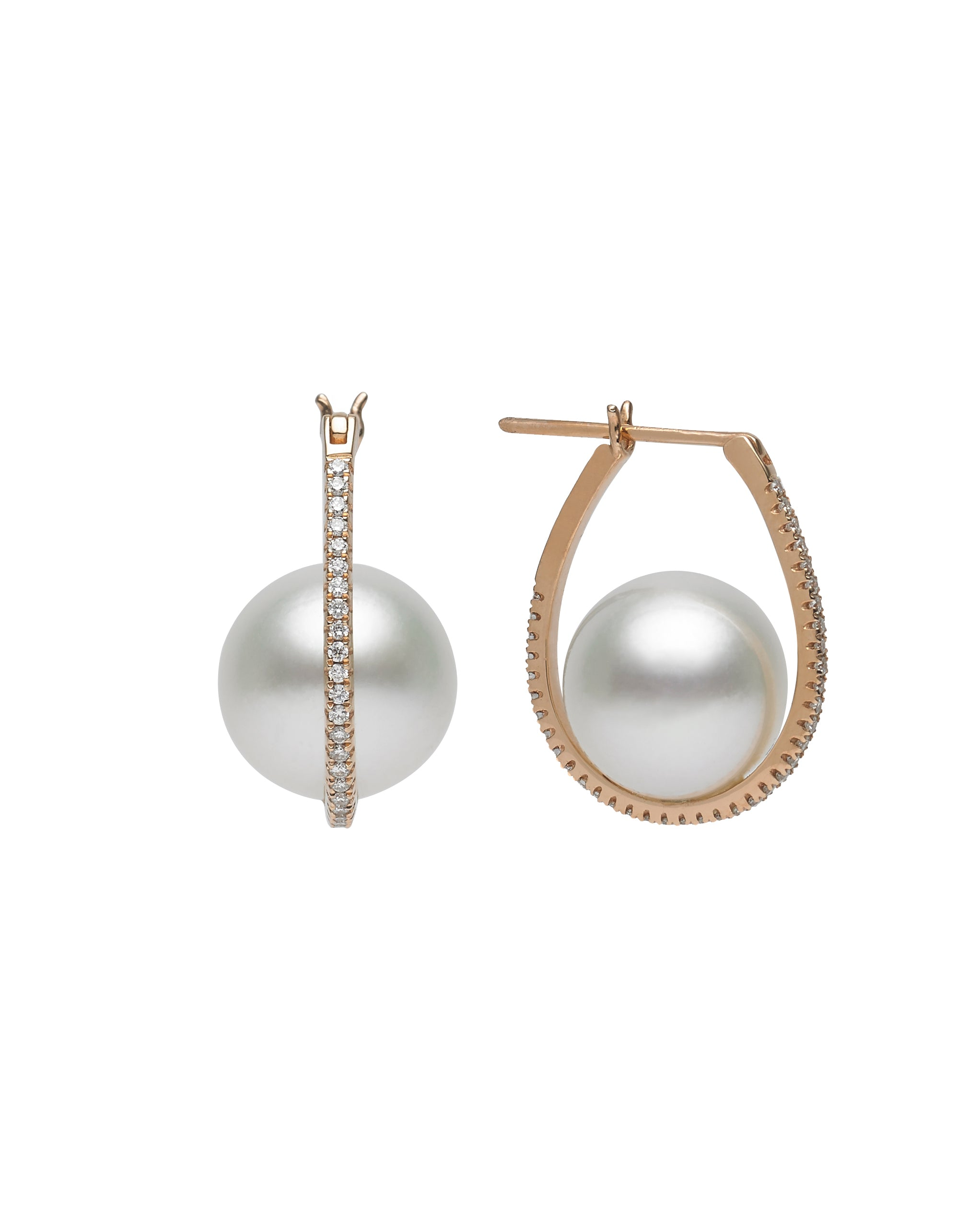 Galaxy Collection 10-11mm White South Sea Pearl Earrings