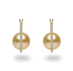 Galaxy Collection 11-12mm Golden South Sea Pearl Earrings