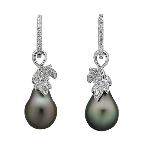 Galaxy Collection 12-13mm Tahitian Pearl Earrings