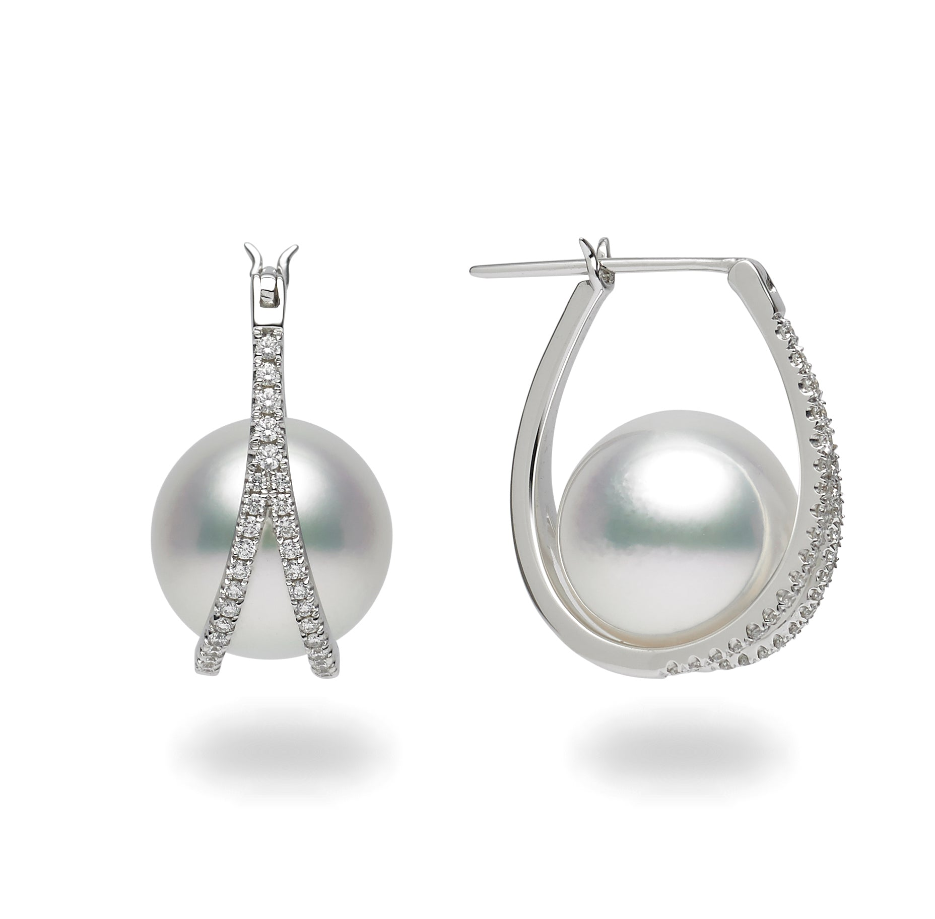 Galaxy Collection 11-12mm White South Sea Pearl Earrings
