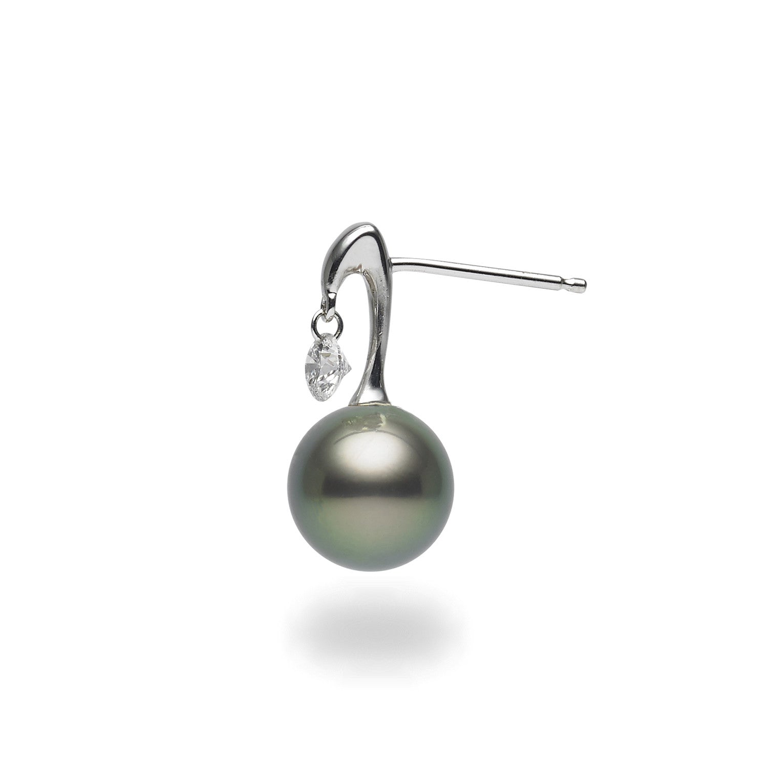 Dancing Diamond™ Collection 910mm Tahitian Pearl And Diamond Earrings
