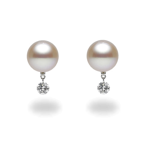9-10mm Freshwater Cultured Pearl Stud Earrings