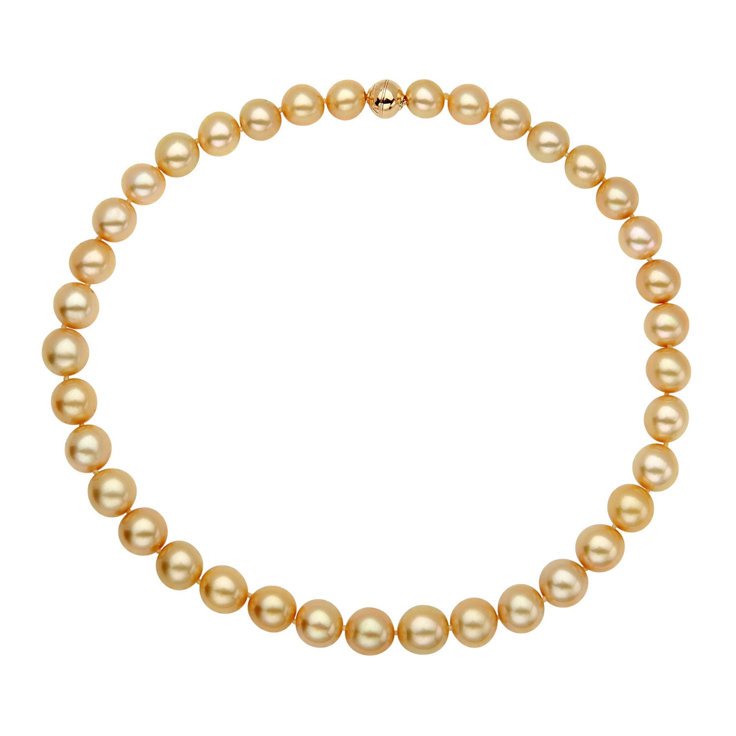 10-11mm Golden South Sea Pearl Strand
