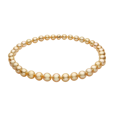 Oscar Collection 10-11mm Golden South Sea Pearl Ring