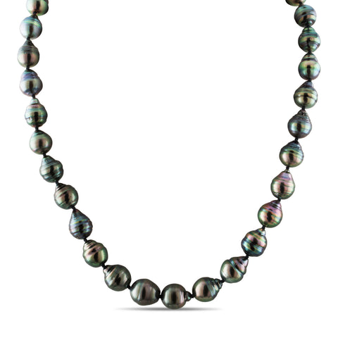 8-10mm Natural Color Tahitian Pearl Strand