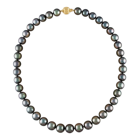 18k 10-12mm White South Sea Cultured Pearl and Diamond Necklace
