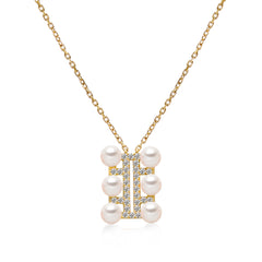 14k Gold 4.5-5mm Akoya Triple Row Necklace