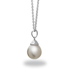 8-9mm White South Sea Pearl Pendant Necklace