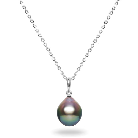 14k 8-10mm Tahitian Cultured Circle Pearl Necklace
