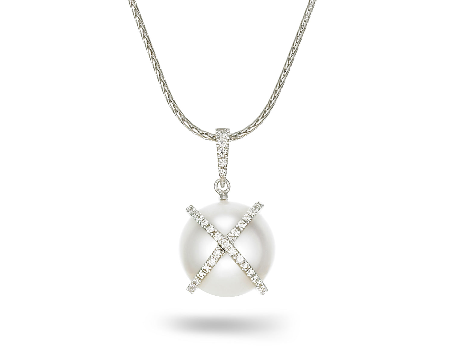 X & O's White South Sea Pearl Pendant
