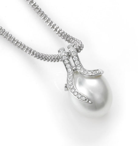 Oscar Collection 11-13mm White South Sea Pearl Pendant