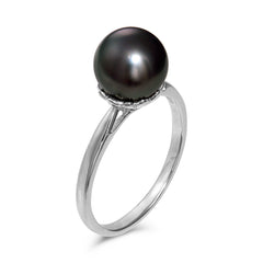 8-9mm Tahitian Cultured Pearl  Ring