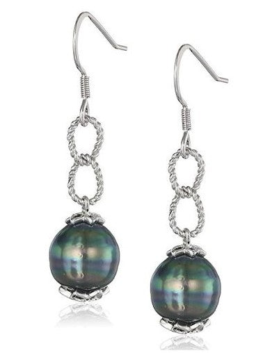 9-10mm Tahitian Pearl  Earrings
