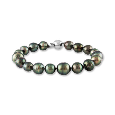 9-10mm Tahitian Cultured Pearl and Diamond Pendant Necklace