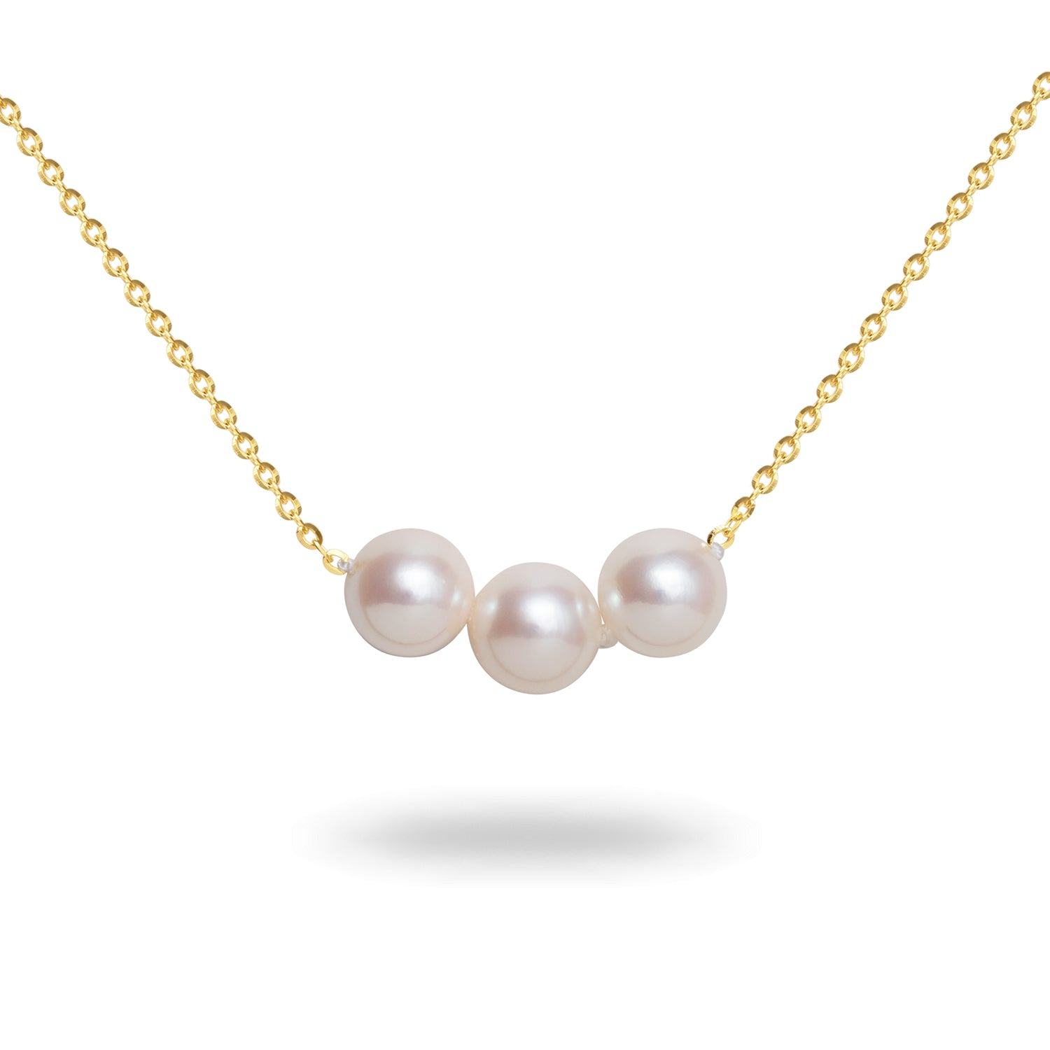 8-8.5mm White Akoya Cultured Pearl Necklace