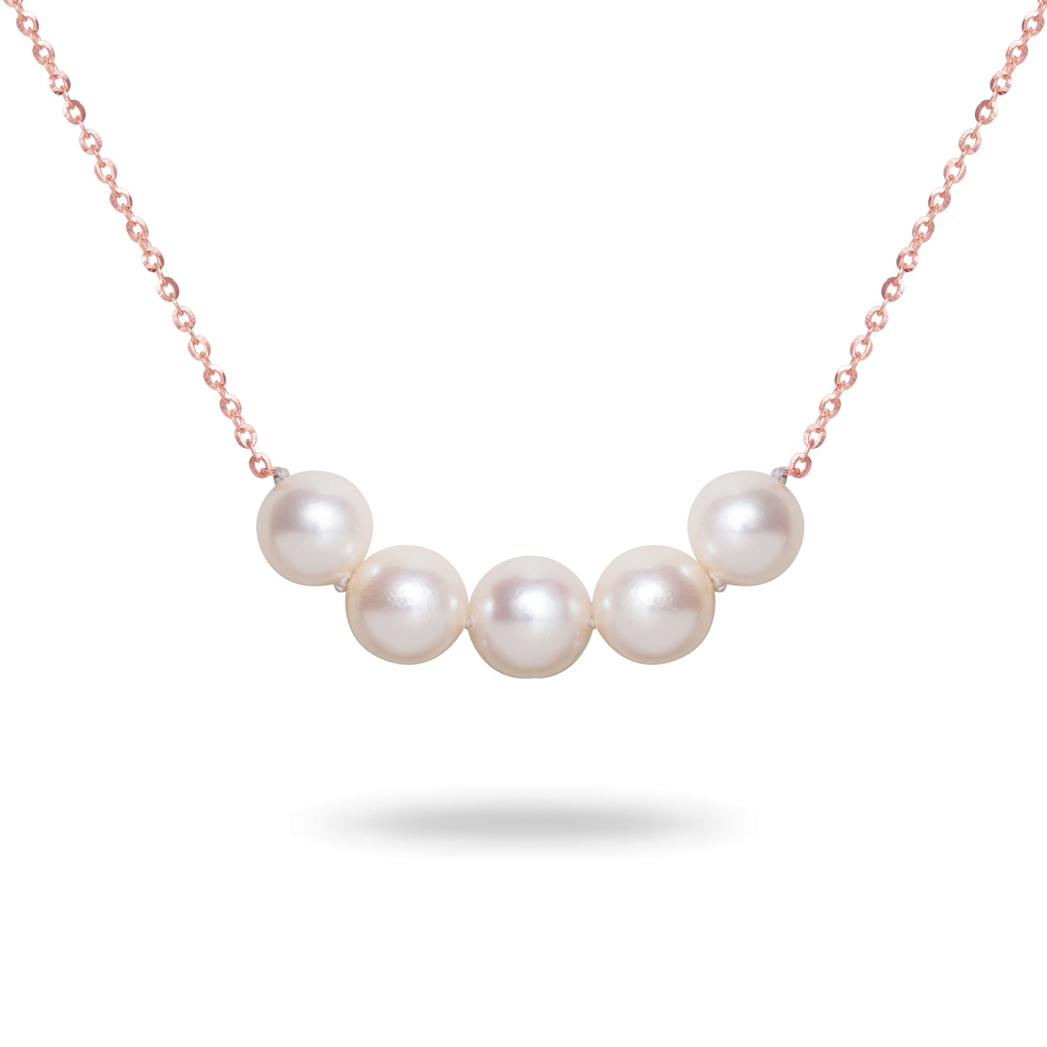 8mm White Akoya Cultured Pearl Necklace