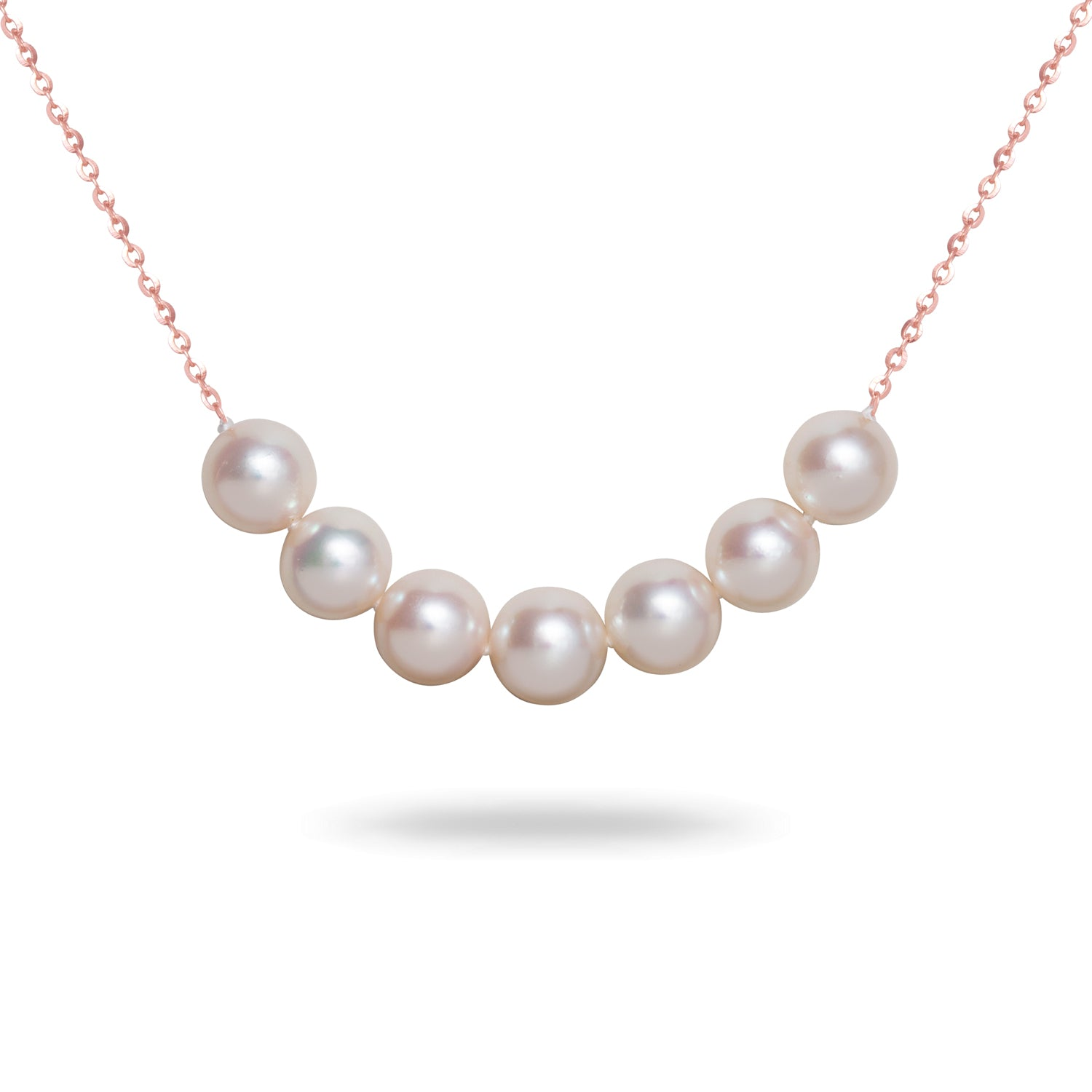 7-7.5mm White Akoya Cultured Pearl Necklace