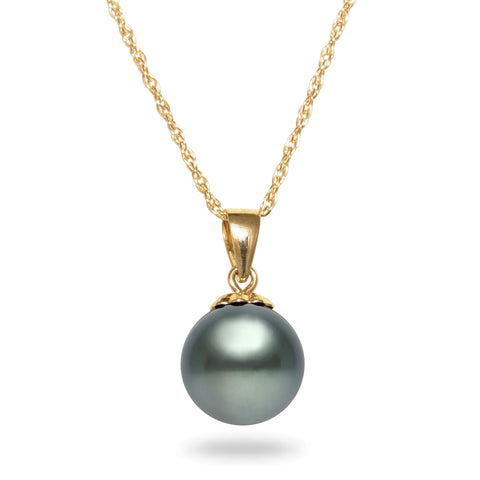 18k 10-12mm Golden South Sea Cultured Pearl And Diamond Strand