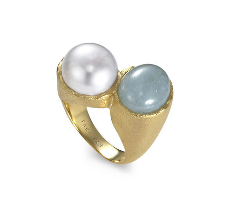 Modern 11x12mm Freshwater Pearl Ring