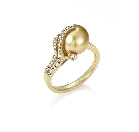 Oscar Collection 12-13mm Golden South Sea Pearl Ring