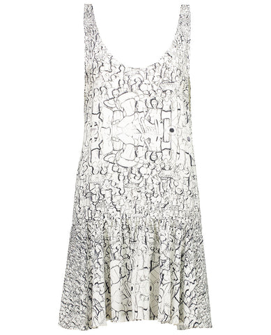 Population Print Beach Dress